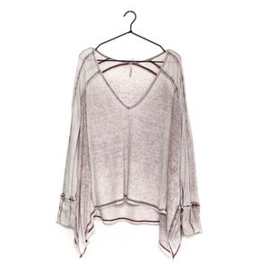 Free People Tops - FREE PEOPLE Pacific Oversized Tissue Thin Thermal
